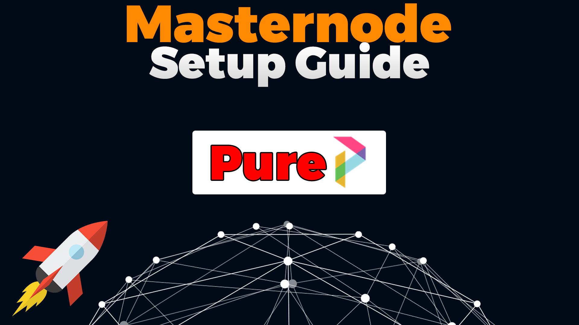 pure masternode setup